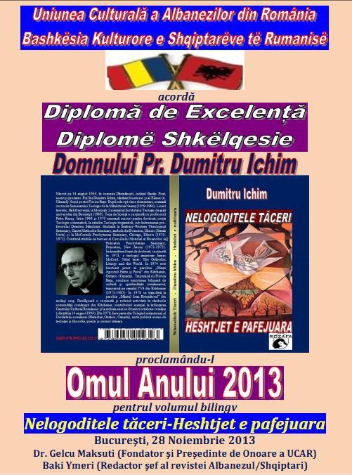 DUMITRU ICHIM - DIPLOMA DE EXCELENTA