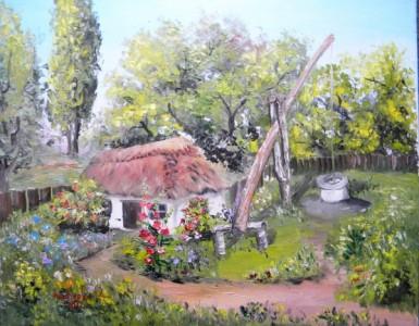 tablouri_cu_peisaje_andreescu_razvan_casa_cu_fantana
