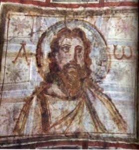 300px-Iisus_Hristos,_sec_al_IV-lea-pictura murala in catacombe