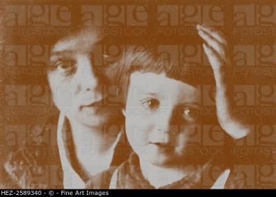 Nadezhda Volpin with her son Alexander Esenin-Volpin.